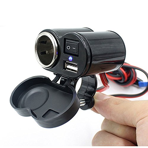 Motorcycle Waterproof GPS 1.5A USB Port Power Charger Cigarette Lighter Socket For Sale