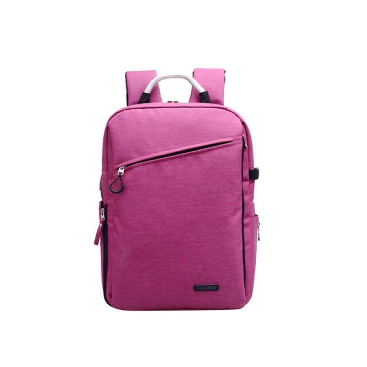 カメラバッグ、ショルダーフォトバックパックバッグ、両眼大容量バックパック、ブラック、レッド (Color : Pink) B07R3ZGPDW