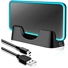 USB Charging Dock Charger Stand with Cable Compatible with Nintendo 2DS XL