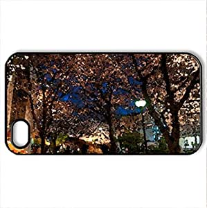 beautiful padestrian walkway hdr - Case Cover for iPhone 4 and 4s (Watercolor style, Black)