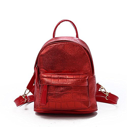 Bag Handbag Fashion Meaeo Pu Bag Red Backpack Square Multipurpose Small Network Backpack wHSq8