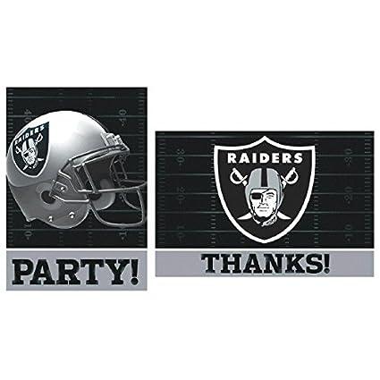 Amazon Com Amscan Oakland Raiders Nfl Football Party Invitations