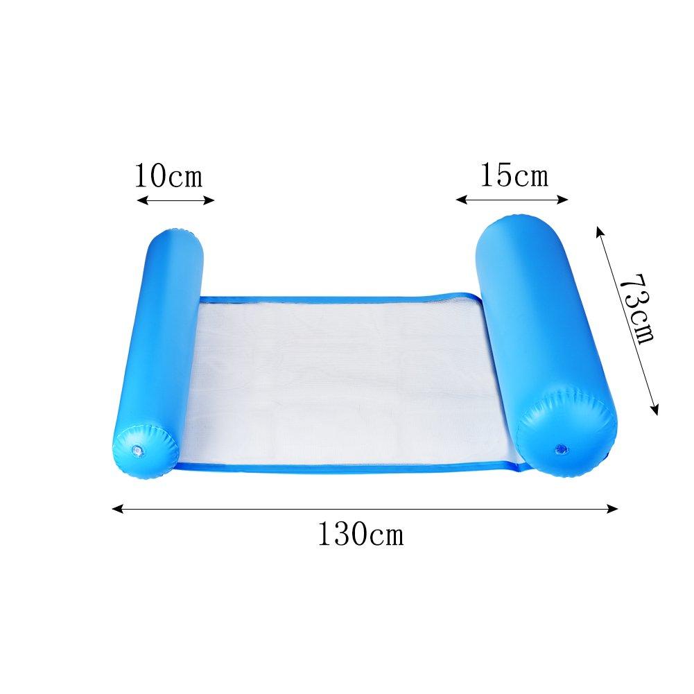 Cozywind Colchoneta de Piscina Hamaca Flotante 130x73cm (Azul): Amazon.es: Juguetes y juegos
