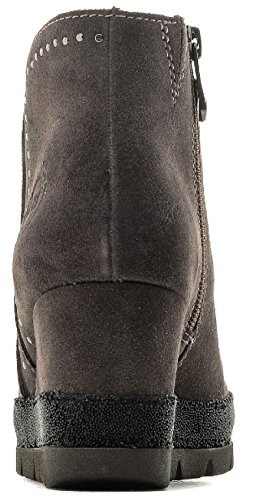 Marco Tozzi Suede Concealed Wedge Ankle Stud Ankle Boot Pepper Q7gkpujP