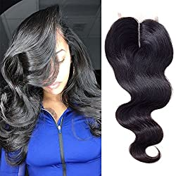 """Ayana Brazilian Virgin Hair Body Wave Middle Part 4X4 Lace Closure 100% Unprocessed Human Hair Lace Closure (14""""body)"""