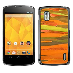 TopCaseStore / la caja del caucho duro de la cubierta de protección de la piel - Yellow Sun Abstract Desert - LG Google Nexus 4 E960