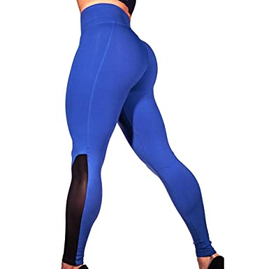 057483035ce802 Womens Workout Mesh Leggings Fitness Sports Gym Running Yoga Athletic Pants  (S