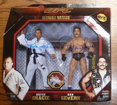 Dan Severn & Royce Gracie Signed Jakks UFC Legends Action Figure COA 1 4 - PSA/DNA Certified - Autographed UFC Miscellaneous Products