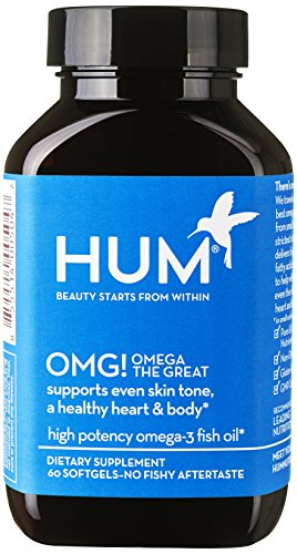 HUM Nutrition - OMG! Omega the Great - Pure + Sustainable Fish Oil for Beautiful Skin, 60 Softgels