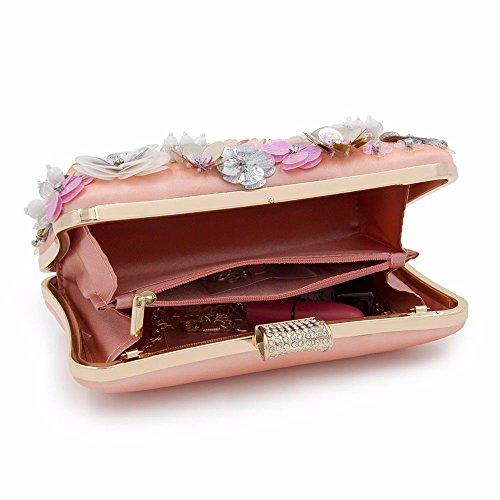 sacs nuptial soirée et chaîne brodés fleurs rose américain Rose sac européen des pochette 2018 sac sac wax4I8FqBW
