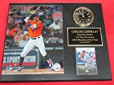 Astros Carlos Correa Collectors Clock Plaque w/8x10 Photo and Card