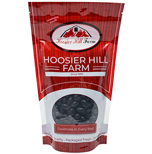 Hoosier Hill Black Jelly Beans, Licorice, 2 Pounds (Black Licorice) -