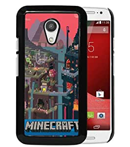Unique And Durable Custom Designed Case For Motorola Moto G 2nd Generation With Minecraft 1 Black Phone Case