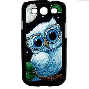 Cute popular owl Samsung Galaxy S3 SIII I9300 TPU Soft Black or White case (Black)