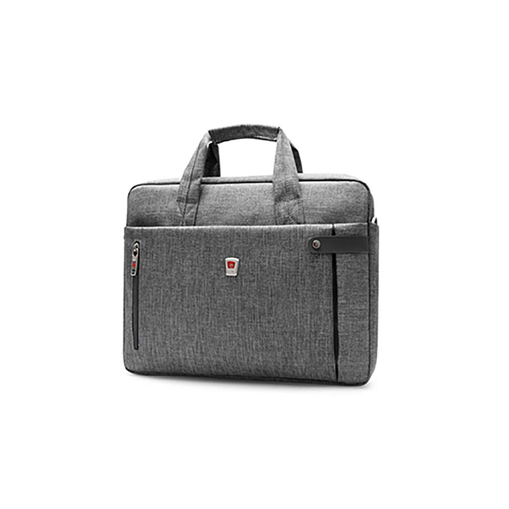QSJY File Cabinets Men's Portable Waterproof Computer Bag 14 inch Oxford Cloth Leisure Business Bag 39×29×7CM (Color : Gray, Size : 39×29×7CM) by QSJY File Cabinets