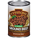 Keystone Meats All Natural Canned Beef, Ground, 14 Ounce