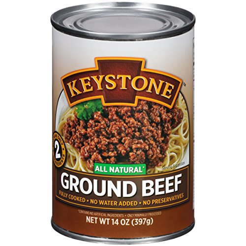 (Keystone Meats All Natural Canned Beef, Ground, 14 Ounce)