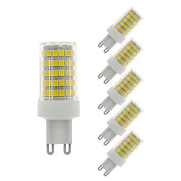 MENTA G9 bombilla LED 10W, equivalente a 80W, 800LM, Blanco Frío 6000K, No Regulable, AC220-240V, LED Candelabra Bombilla, 5 Unidades: Amazon.es: Bricolaje ...