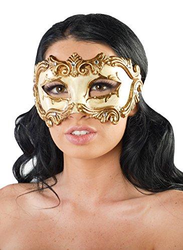 KII Spartacus Gladiator Masquerade Mask (Gold; Unisex One Size)