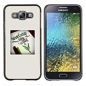 EJOOY---Cubierta de la caja de protección para la piel dura ** Samsung Galaxy E5 E500 ** --copa del mundo cartel inicio de cuento de hadas verde