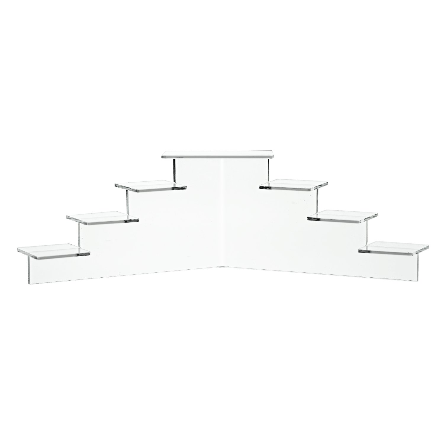 Small, Clear Available in 3 Sizes Clear /& Black SOURCEONE.ORG Source One Deluxe Acrylic 7 Tier Display Stand