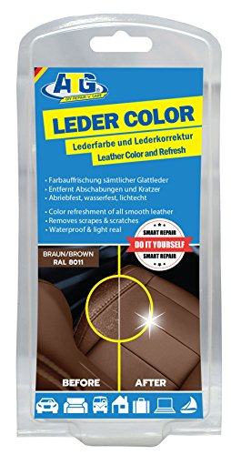 storation with Sponge and Brush | Remove Scratches, Abrasions, Wear | Leather, Synthetic Leather for Car Seat & Furniture Brown ()