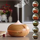 Xinxin 300 Ml Aroma Huile Essentielle Diffuseur Bois Grain Ultrasons Brume Fraîche Humidificateur Pour Office Home Chambre Étude Salon De Yoga Spa