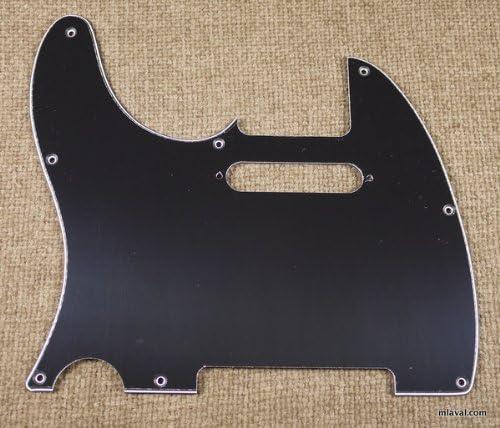 BLACK 3 Ply Left Handed Guitar Pickguard Fits Fender Tele Telecaster Standard B57