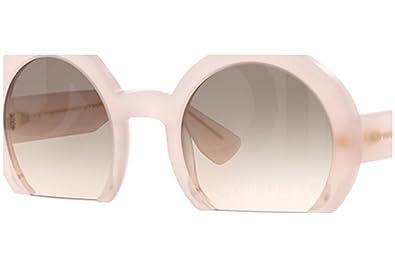 49b1c8dfd14 Amazon.com  Miu Miu 07QS UAE4K0 Pink 07QS Round Sunglasses Lens ...