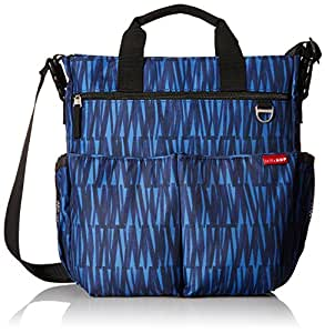 skip hop duo signature diaper bag blue graffiti amazon. Black Bedroom Furniture Sets. Home Design Ideas