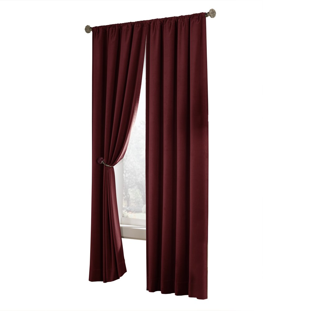 Red velvet window curtains - Amazon Com Maytex Velvet Blackout Panel Red 40 In X 84 In Home Kitchen