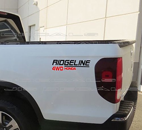 Ridgeline 4WD Decals Compatible with Honda (Black & RED) 14 INCH