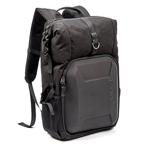 Evecase Shell DSLR Camera Bag Backpack, Laptop Waterproof Ca