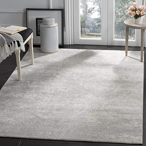 Safavieh Princeton Collection PRN715G Vintage Grey and Beige Distressed Area Rug 9 x 12