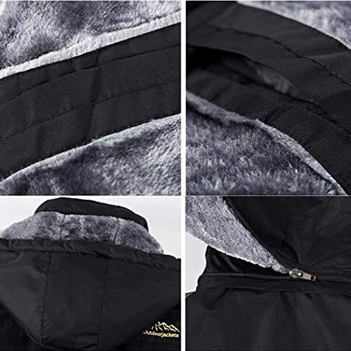 Giacca Chainscroll Maniche Antivento Nero Giacche Impermeabile Lunghe A Uomo Con Da Cappuccio E FRw1q4