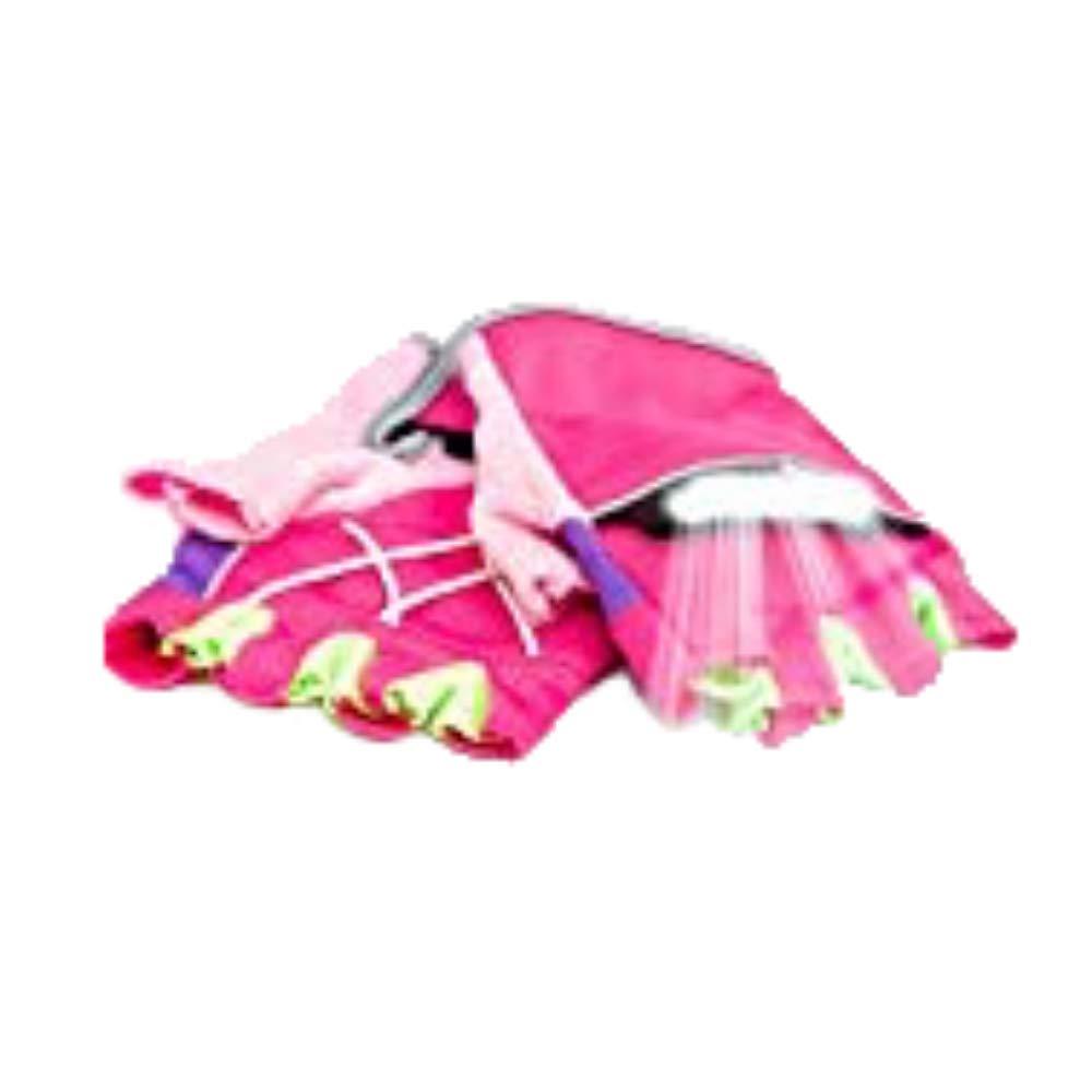 RunLites Mangata - Gloves with Lights - USB Rechargeable LED Lights - Half-Gloves (Pink, Large)