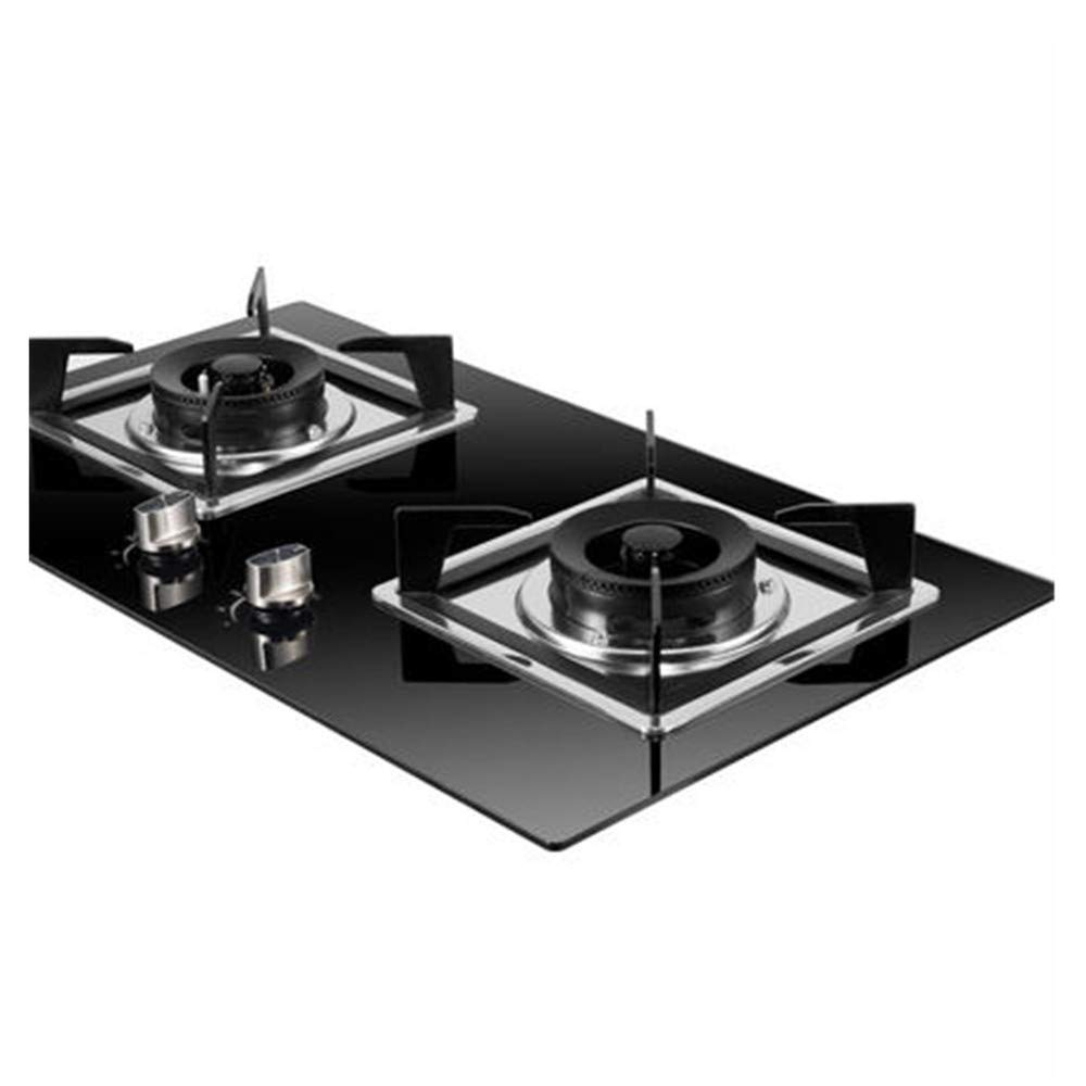 NAB325 Gas Cooker, Explosion-Proof Glass Embedded Two-Burner Stove, Liquefied Gas Natural Gas Stove, Very Suitable for Home, Restaurant by NAB325