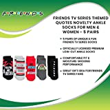 Friends TV Series Themed Quotes Novelty Socks for