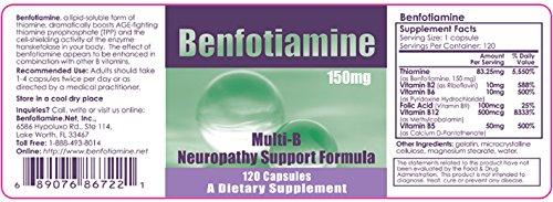 Benfotiamine, Inc. Benfotiamine Multi-B Formula 150 mg 120 C