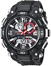 Men's 20/5270BLK Analog-Digital Chronograph Black Resin Strap Watch