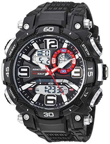 Armitron Sport Men's 20/5270BLK Analog-Digital Chronograph Black Resin Strap Watch