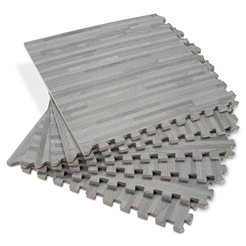 Forest Floor 5/8-inch Thick 100 Sq Ft (25 Tiles) Slate Interlocking Foam Floor Mats ()