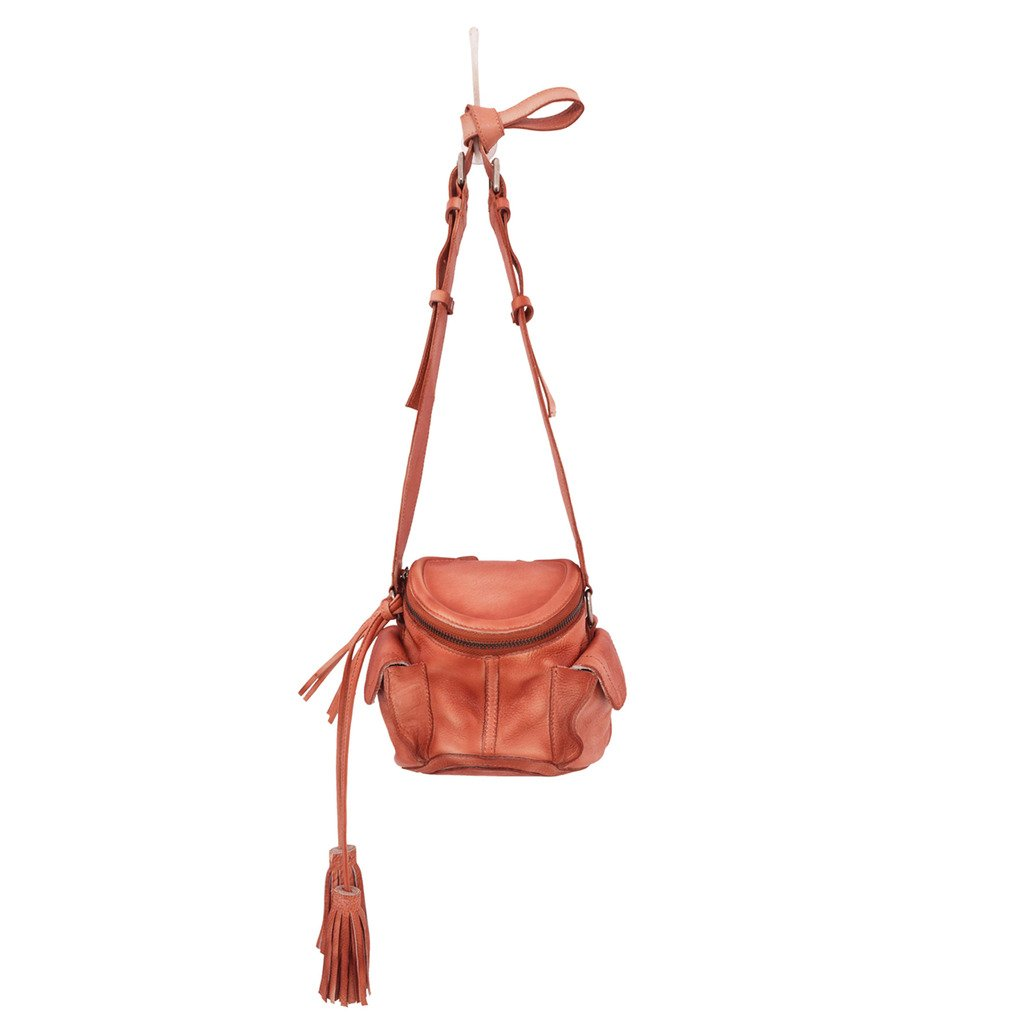 Latico Leathers Clover Cross Body Bag Genuine Authentic Luxury Leather, Designer Made, Business Fashion and Casual Wear, Washed Red by Latico
