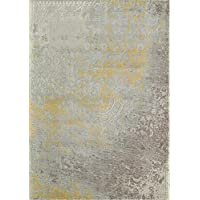 Momeni Rugs LUXE0LX-12GLD2030 Luxe Collection Power-Loomed Contemporary Area Rug, 2 x 3, Gold