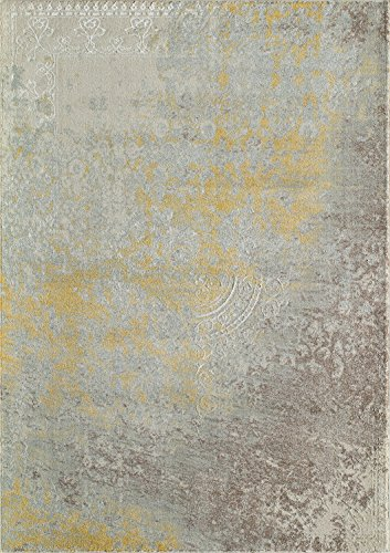Antique Rug Rectangle Gold (Momeni Rugs LUXE0LX-12GLD93C6 Luxe Collection Power-Loomed Contemporary Area Rug, 9'3