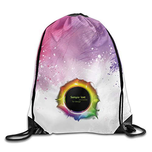 Price comparison product image Colorful Total Solar Eclipse August 21stDrawstring Bag Travel Daypack Sports Portable Backpack