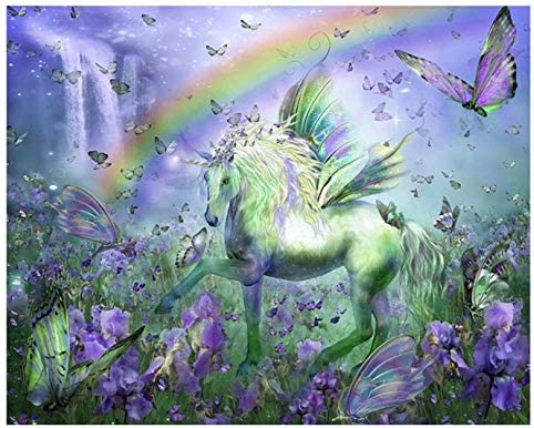 5D Diamond Painting by Number Kits for Adults Diymood Painting The Cat and The Horse Paint with Diamonds Arts Full Drill Decor Craft 30x40cm 12x16inch
