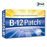 Vitamin B12 Patches - 3 Boxes (12 Patches, Three Monthes Supply) / Vitamine B12 Patches - 3 Boîtes (12 Patches, Trois Monthes Supply)