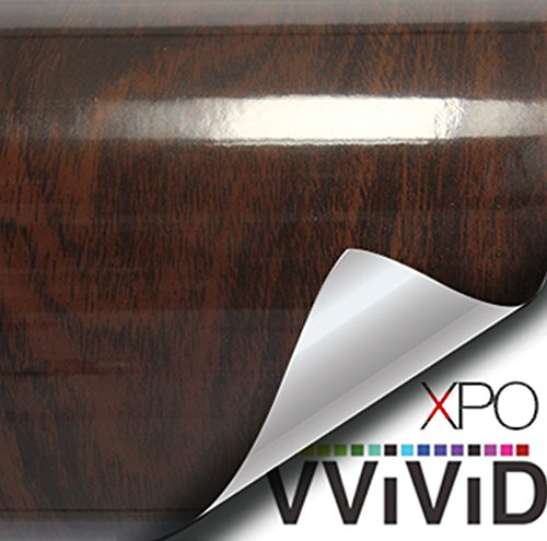 - VViViD High Gloss Dark Brown Cedar Striped Wood Grain Faux Finish Textured Vinyl Wrap Roll Sheet Film for Home Office Furniture DIY No Mess Easy to Install Air-Release Adhesive (2ft x 48