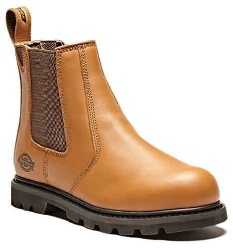 Dickies Fife Dealer Steel Toe Cap stivali di sicurezza FD9214 castagna 45